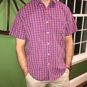 JCrew Shirt Check Short Sleeve Button Down